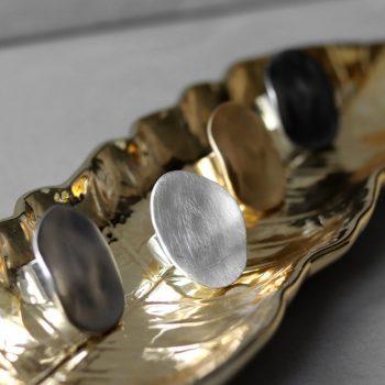 Biba verstelbare ring rond groot-gun - zilverkleurig