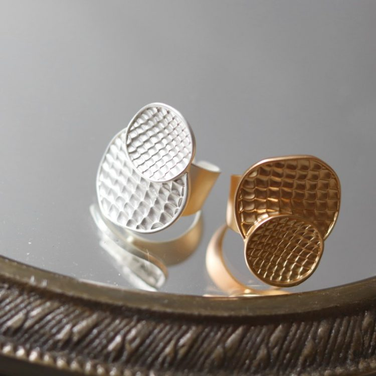 Biba verstelbare ring snake - zilverkleurig