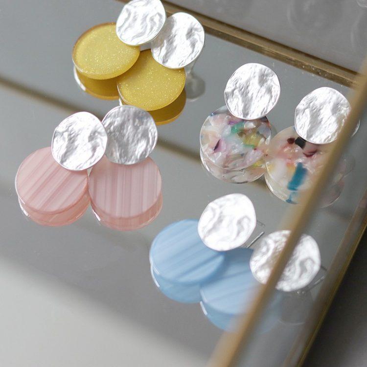 Biba disk oorbellen kies je kleur