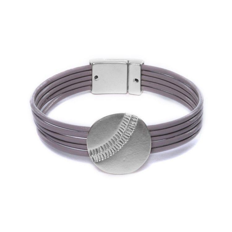 Biba magneet armband met schuifkraal - silver