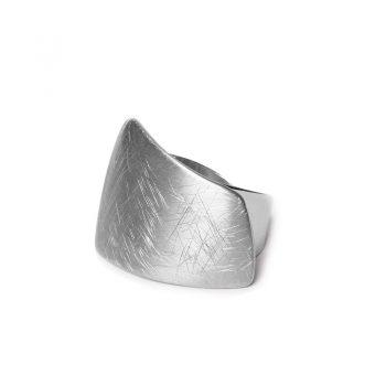 Biba verstelbare ring trapeze-zilver