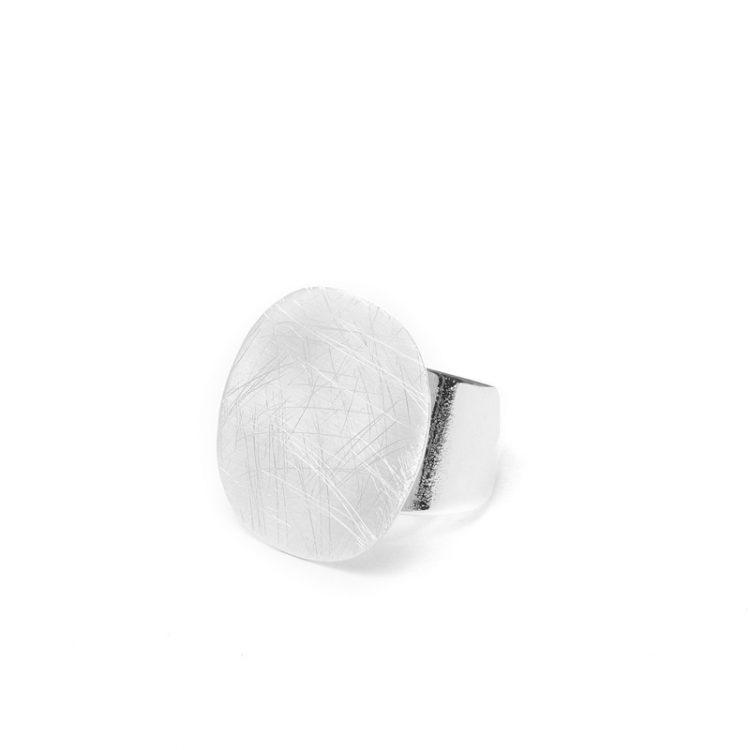 Biba verstelbare ring rond zilver