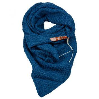 Blauwe driehoek sjaal met riempje Lot83