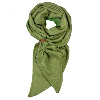 Groene visgraat sjaal met riempje merk Lot83