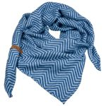 Lange blauwe sjaal met riempje Lot83
