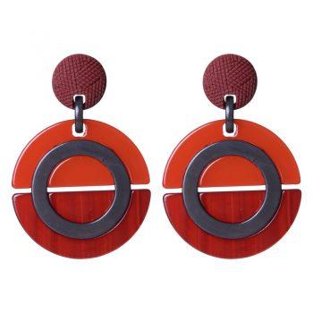Biba oorbellen acryl rood
