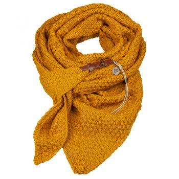 Oker gele driehoek sjaal-omslagdoek met riempje