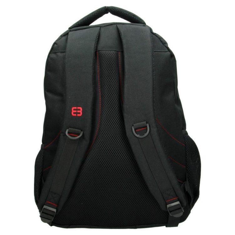 Enrico Benetti rugtas - laptop rugtas zwart rood achterkant