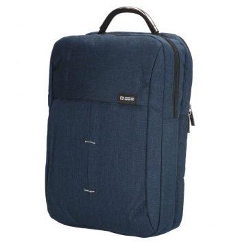 Enrico Benetti rugtas in blauw met 15 inch laptopvak zijkant