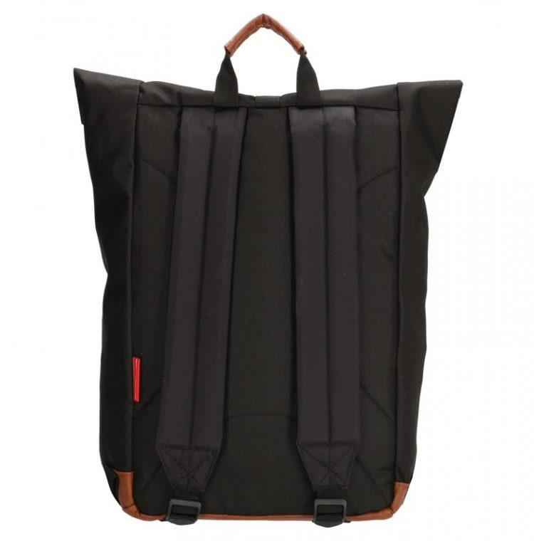 Enrico Benetti rugtas zwart - bruin laptop 15 inch rugtas achterkant