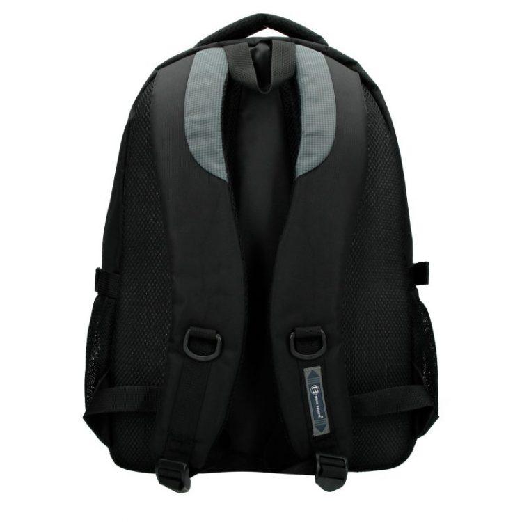 Enrico Benetti rugtas zwart - grijs laptop 15 inch rugtas achterkant