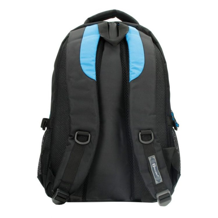Enrico Benetti rugtas aqua-zwart - laptop 15 inch rugtas achterkant