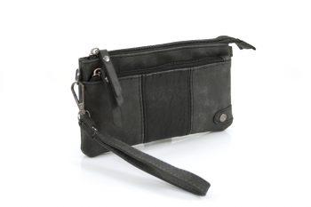 Handige portemonnee – tasje zwart met voorvak
