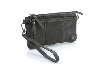 Handige portemonnee – tasje grijs met voorvak