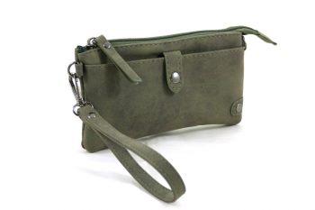 Portemonnee - tasje groenmet handige vakken