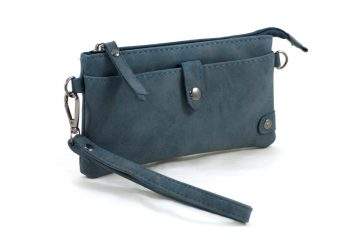 portemonnee - tasje blauw met handige vakken