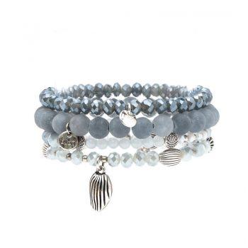 Biba kralen armbanden licht blauw 4 stuks