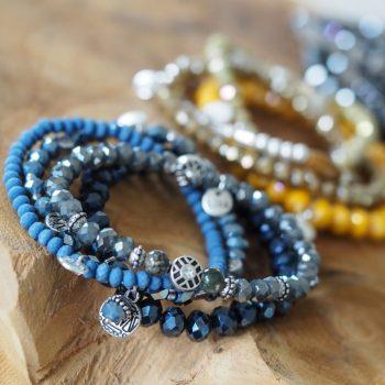 Gekleurde armbandjes met facet kralen Biba