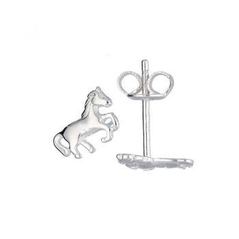 Oorstekers zilver paarden van het merk Lilly