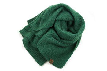 Extra lange sjaal acryl groen