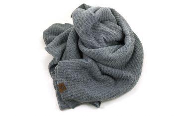 Extra lange sjaal acryl grijs