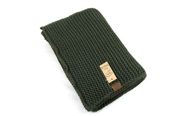 Grof gebreide warme sjaal groen