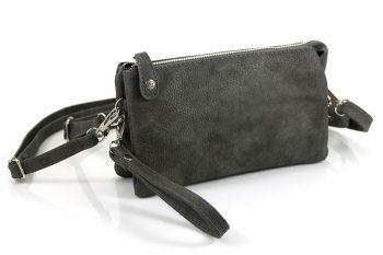 Clutch - heuptasje - schoudertasje grijs