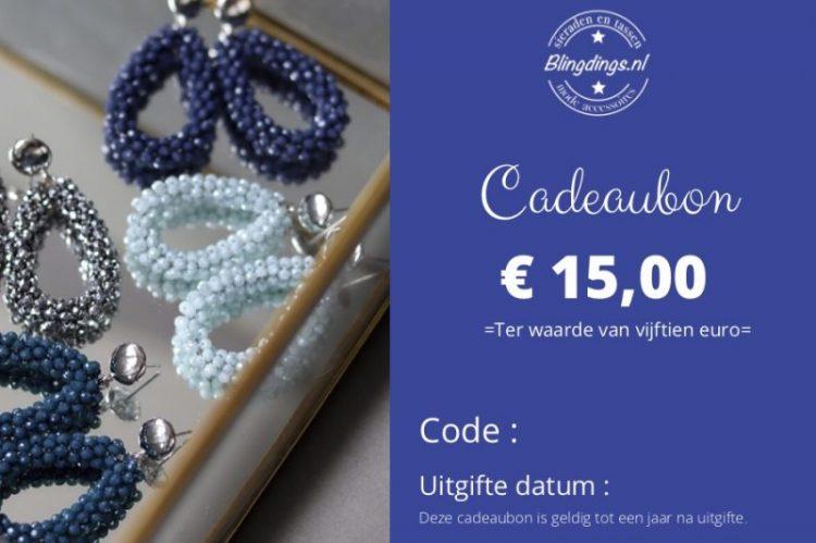 blingdings cadeaubon € 15,00