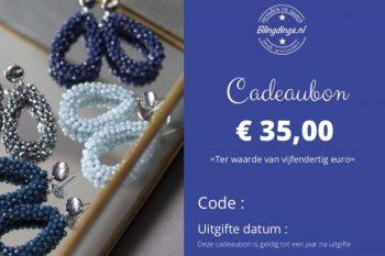 Blingdings cadeaubon € 35,00