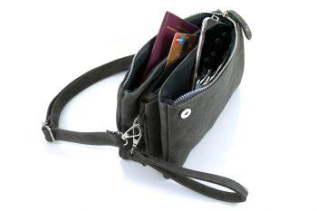 zwarte clutch - heuptasje schoudertasje