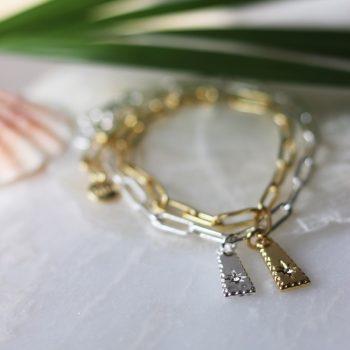 Biba armband met hanger en Swarovski steentje