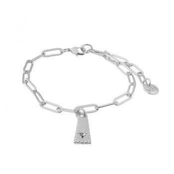 Biba armband met hanger en Swarovski steentje - schakel