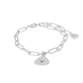 Biba armband driehoek hanger en Swarovski steentje