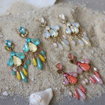 Biba oorbellen gekleurde crystal kralen
