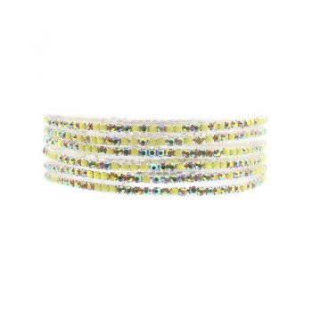 Biba armbanden geel tinten set - 6 stuks