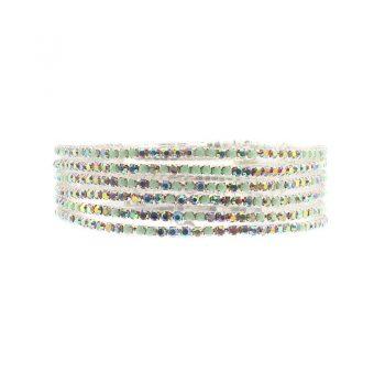 Biba armbanden zacht groen tinten set - 6 stuks