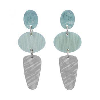 Biba oorhangers met elipce hanger blauw groen