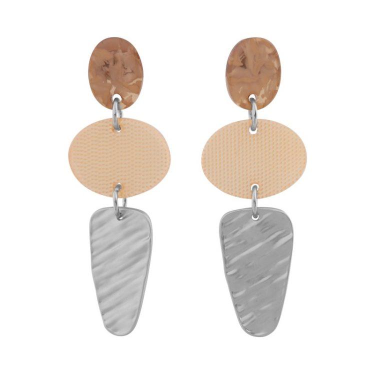 Biba oorhangers met elipce hanger oranje transparant