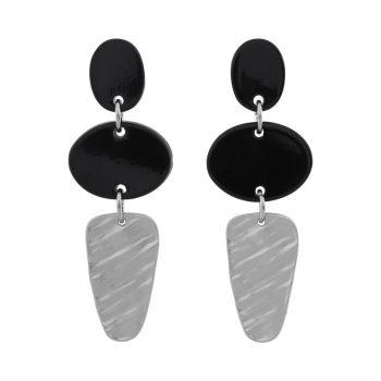 Biba oorhangers met elipce hanger zwart