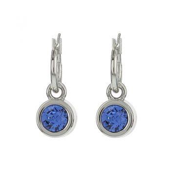 Biba oorringen sapphire blauw facet steen