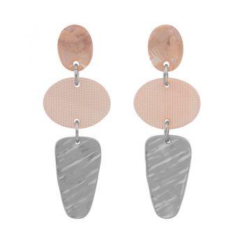 Biba oorhangers met elipce hanger soft orange