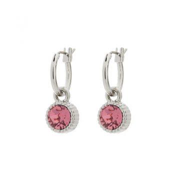 Biba oorringen roze steen kleine oorringen
