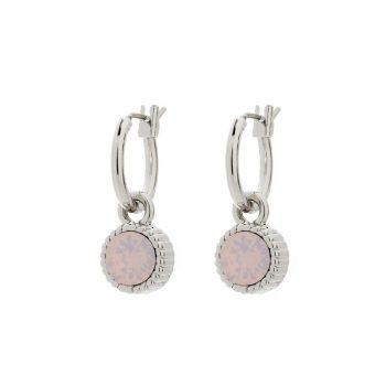 Biba oorringen roze Opal steen kleine oorringen