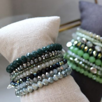 Groen tinten kralen armbanden Biba