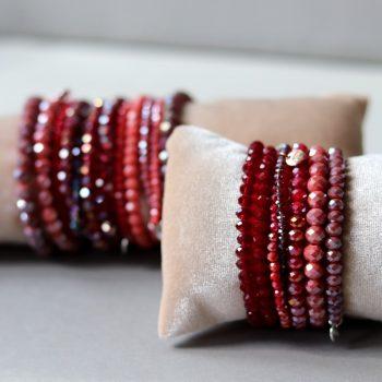 rood tinten kralen armbanden Biba