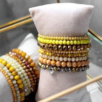 Geel tinten Biba armbanden
