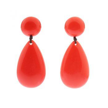 Biba grote oorbellen resin oranje