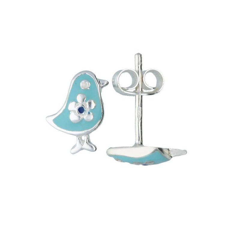 Lilly kinderoorbellen blauwe eend zilver