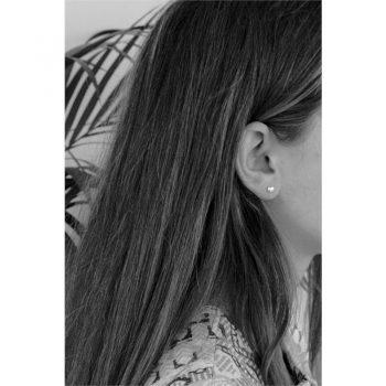 Lilly kinderoorbellen hartje effen zilver - oorknoppen voorbeeld
