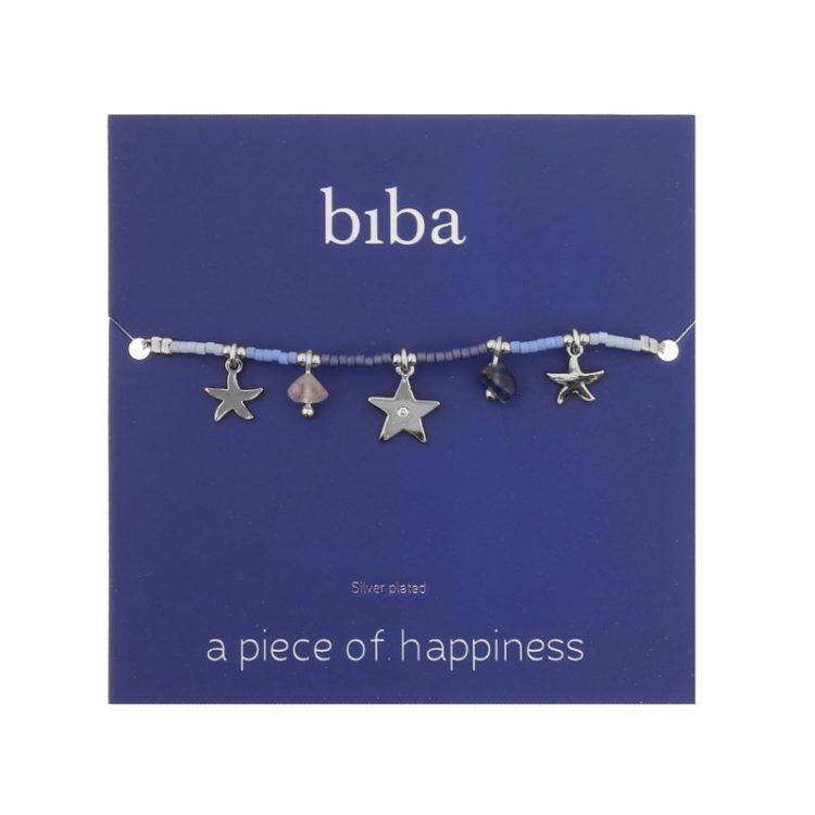 Enkelbandjes beach life Biba blauw
